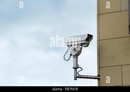 CCTV street camera, UK - Stock Photo