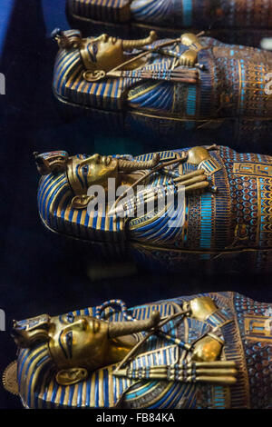 from the tomb of Tutankhamun at the Egyptian Museum, Cairo, Egypt - Stock Photo