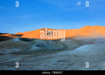 Craters volcanic landscape in the deserts of Bolivia - Stock Photo