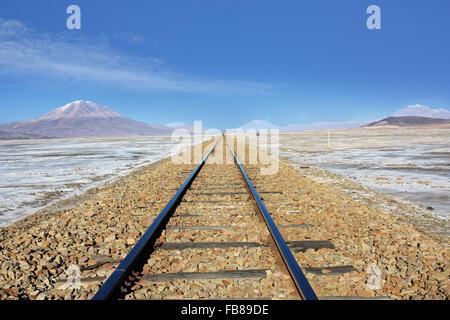 railway in Bolivia South America - Stock Photo