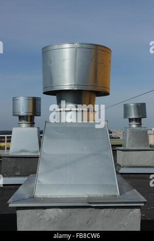 Exhaust air pipes on a roof(top Stock Photo, Royalty Free Image ...