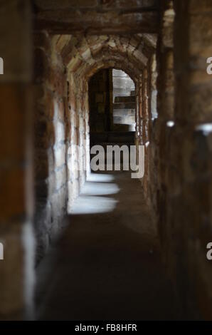 A passageway in Linlithgow Palace, Scotland - Stock Photo