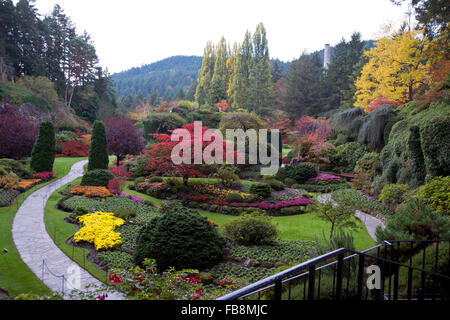 A View Of The Sunken Garden At Butchart Gardens Central Saanich Stock Photo 58929956 Alamy