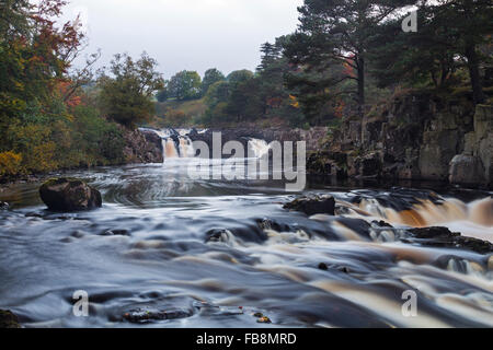 The River Tees at Low Force Viewed from the Pennine Way Footpath, Bowlees Teesdale County Durham UK - Stock Photo
