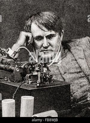 Thomas Alva Edison, 1847 –1931.  American inventor and businessman. - Stock Photo
