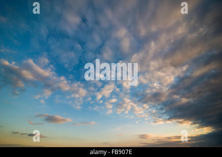 Dramatic cloudscape over the English Channel, West Sussex, UK - Stock Photo