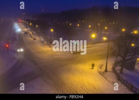 St. Petersburg, Russia. 12th Jan, 2016. An embankment of the Moyka River. Credit:  Ruslan Shamukov/TASS/Alamy Live - Stock Photo