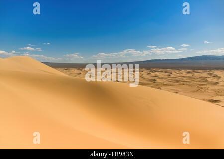 Singing Sand Dunes of the Gobi Desert in Mongolia - Stock Photo
