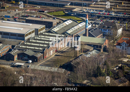 Aerial view, LVR Industrial Museum Altenberg zinc factory, Oberhausen, Ruhr, Nordrhein-Westfalen, Germany, Europe, - Stock Photo