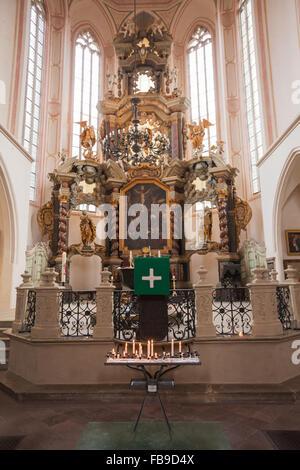 Altar of St Wenceslas Church, Naumburg (Saale). m.f.g Kirchengemeinde Naumburg - Stock Photo