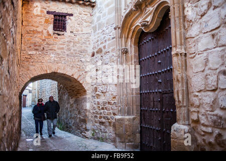 Arco del Perdón, in calle Alta. Baeza. Jaen province. Andalusia. Spain - Stock Photo