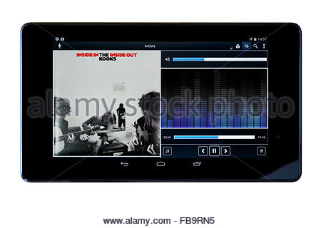 The Kooks 2006 debut album Inside In/Inside Out, MP3 album art on PC tablet, England - Stock Photo