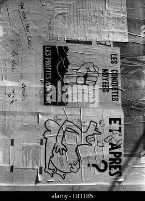 Events of May 1968 -  France / Ile-de-France (region)  -  Events of May 1968 -  Anti-establishment posters in 1968 - Stock Photo