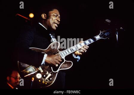 B.B.King, in  concert in Paris,1968 -  1968  -  France / Ile-de-France (region) / Paris  -  B.B.King, in  concert - Stock Photo