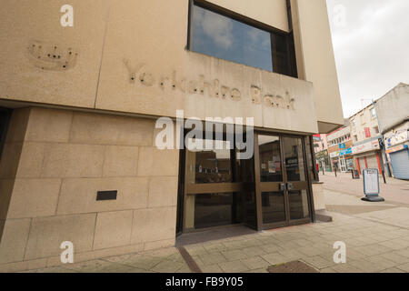 bank branch closure - closed branch of Yorkshire Bank, Cheapside in the centre of Barnsley, South Yorkshire, England, - Stock Photo