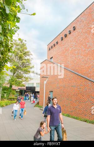 hugo boss, factory outlet, outlet city, metzingen, baden-wuerttemberg, germany - Stock Photo