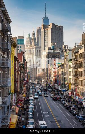Chinatown, Manhattan, New York, USA - Stock Photo