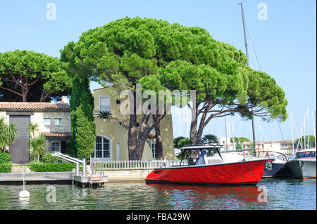 View on the Port Grimaud, French Riviera, France - Stock Photo