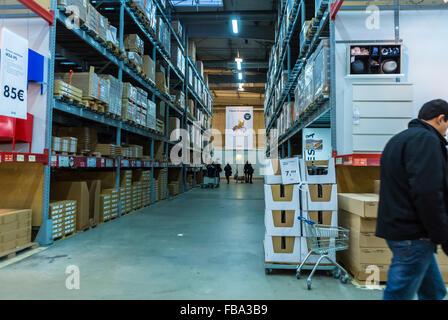 warehouse area of ikea furniture store england uk stock. Black Bedroom Furniture Sets. Home Design Ideas