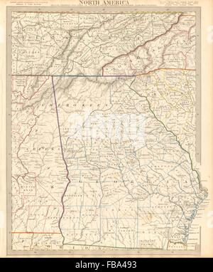 Map of North Carolina NC USA United States of America contour
