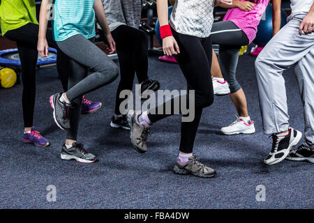 Mid section of a dancer group - Stock Photo