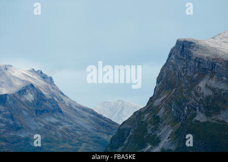 Norway, More og Romsdal, Sunnmore, View of mountainous landscape - Stock Photo