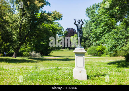 Lysippus, 'Praying Boy' statue  (reproduction) in the Lennepark, Frankfurt (Oder) - Stock Photo