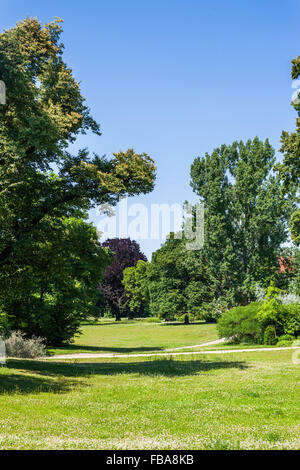 Lennepark in Frankfurt (Oder), Germany on a sunny afternoon - Stock Photo
