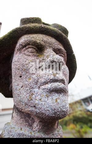 Stahlwerker statue, Edmund Neutert, Lichtspieltheater der Jugent, Frankfurt (Oder) - Stock Photo