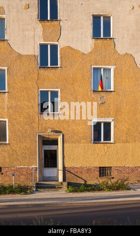 Apartment building in Frankfurt (Oder), Brandenburg (former East Germany) - Stock Photo