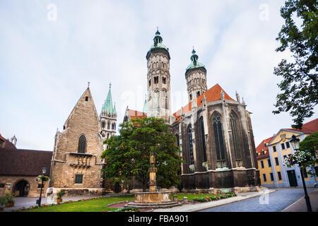Naumburger Dom (Naumburg Cathedral), Naumburg an der Saale, Germany - Stock Photo