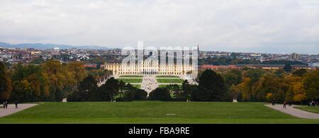 Schönbrunn (Schonbrunn) Palace and grounds in Vienna - Stock Photo