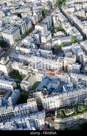 France, Ile-de-France, Paris, Aerial view of city - Stock Photo