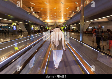 Hamad International Airport in Doha. Qatar, Middle East - Stock Photo