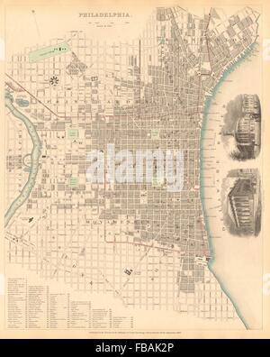 Philadelphia Town City Map Plan Pennsylvania RAND MCNALLY 1912 - Philadelphia Us Map