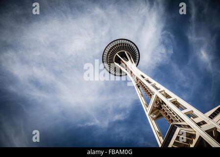 The Space Needle, in Seattle, Washington. - Stock Photo