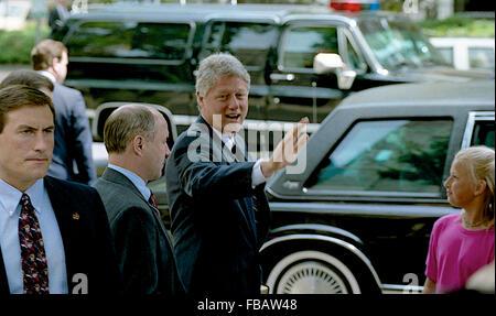 Washington, DC., USA 23rd May, 1993 President William Jefferson Clinton along with First Lady Hillary Rodham Clinton - Stock Photo
