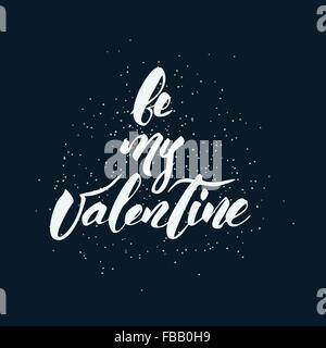 Happy Valentine's Day handwritten lettering - Stock Photo