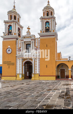 The Santuario Nuestra Señora de los Remedios in Cholula, Puebla, Mexico was built in 1594 upon the Great Pyramid - Stock Photo