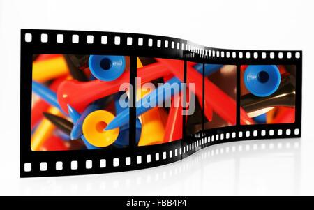 Golf Tees Film Strip - Stock Photo