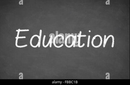 Word education written on the board - Stock Photo