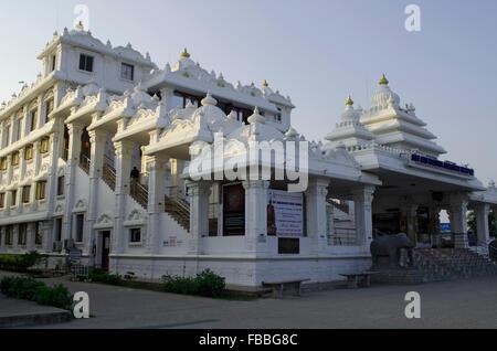 ISKCON Temple Chennai, Madras, Tamil Nadu, India, Asia - Stock Photo