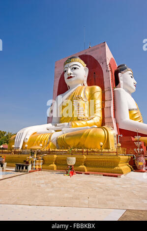 A four sided statue of buddah at Bago, Myanmar - Stock Photo