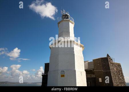 The Mumbles lighthouse, Wales, UK - Stock Photo