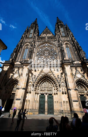 St. Vitus's Cathedral, Prague castle, Czech Republic - Stock Photo