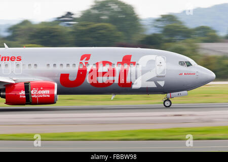Jet2 Airline Low Cost Carrier Aircraft - Stock Photo