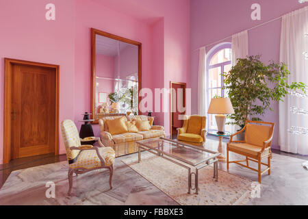 Colorful Living Room Furniture Classic Style Crest - Living Room ...