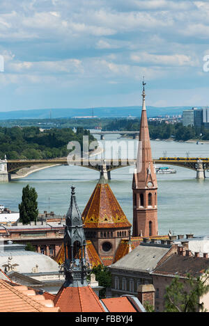 Calvinist Church by the River Danube in Budapest, Hungary. - Stock Photo