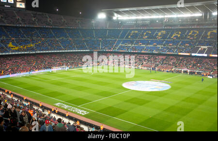 Camp Nou or Nou camp barcelona football stadium - Stock Photo