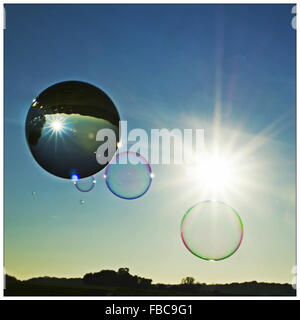 crystal ball and bubbles - Stock Photo